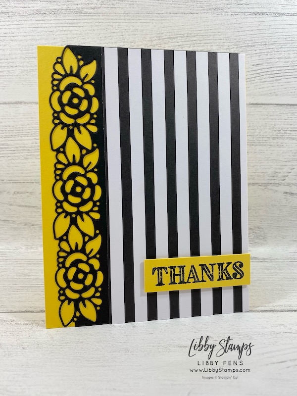 libbystamps, Stampin' Up!, Ornate Thanks, Ornate Border Dies, Ornate Thanks Bundle, Golden Honey DSP, #tgifc255