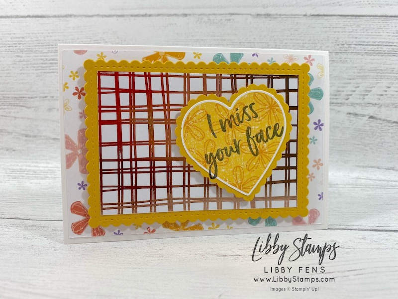 libbystamps, Stampin' Up!, Tags In Bloom, Stitched So Sweetly Dies, Flowering Foils Specialty DSP, Pleased As Punch DSP, Heart Punch Pack, Whisper White Narrow Note Cards & Envelopes, CCMC, Sale-a-bration