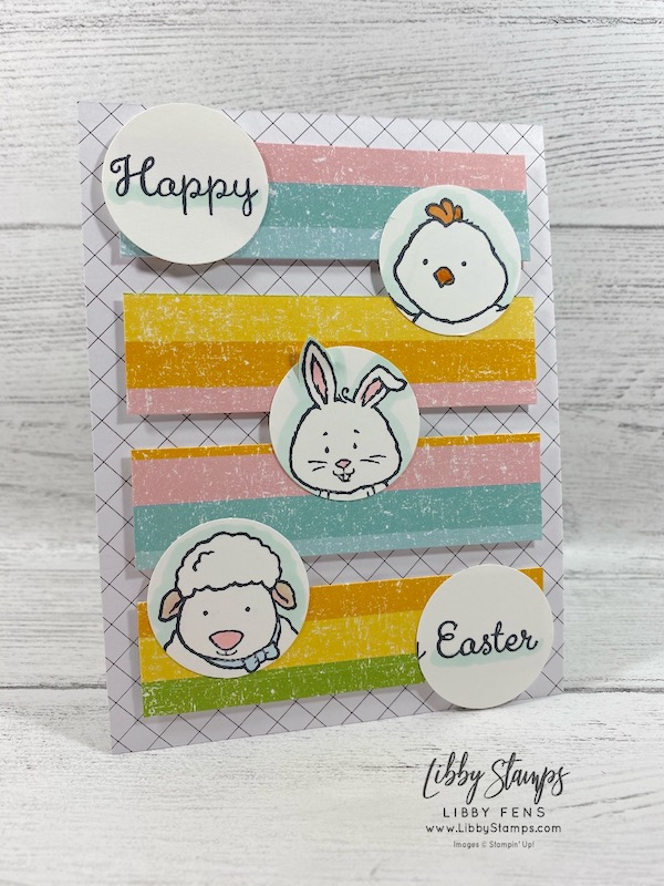 libbystamps, Stampin' Up!, Welcome Easter, Pleased As Punch DSP, Golden Honey DSP, TSOT
