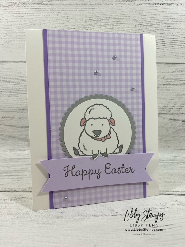 libbystamps, Stampin' Up!, Welcome Easter, Layering Circles Dies, 6 x 6 2019-2021 In Color DSP, Banner Triple Punch, Metallic Pearls, Joy of Sets Blog Hop