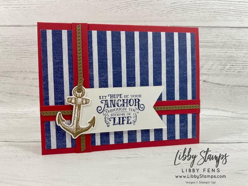 libbystamps, Stampin' Up!, Sailing Home, Smooth Sailing Dies, Sailing Home Bundle, Come Sail Away DSP, TSOT, #keepstamping