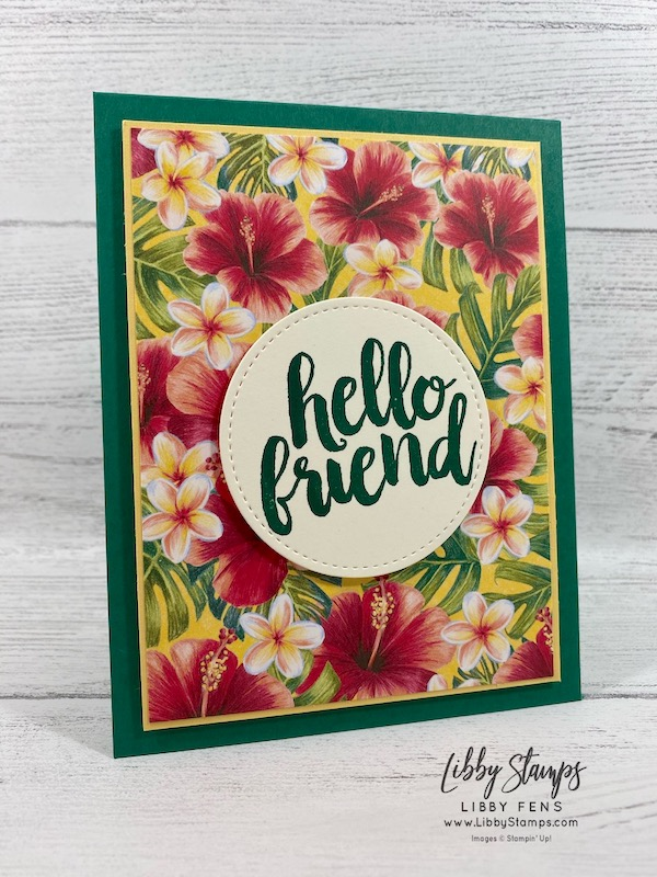 libbystamps, Stampin' Up!, Seriously The Best, Stitched Shapes Dies, Tropical OasisDSP, TSOT, #keepstamping