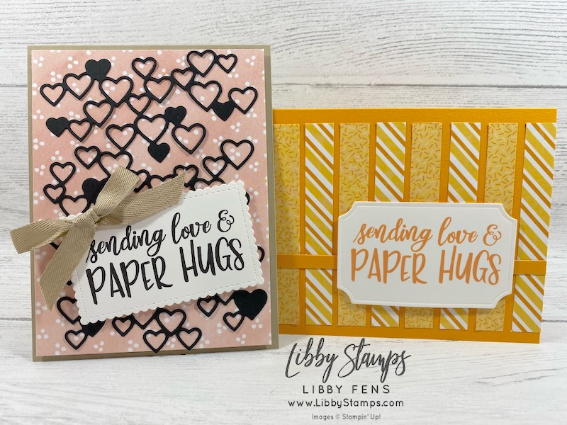 libbystamps, Stampin' Up, #sharesunshine, #makeacardsendacard, Detailed Hearts Dies, Stitched So Sweetly Dies, Painted Labels Dies, Best Dressed DSP, Birthday Bonanza DSP, Share Sunshine Digital Download