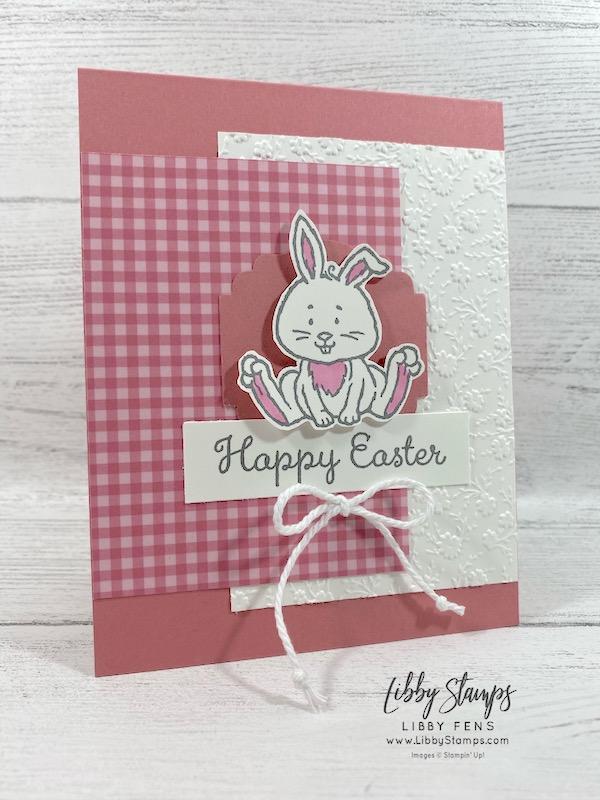 libbystamps, Stampin' Up!, Welcome Easter, Ornate Floral EF, Eyelet Lace EF, Coastal Weave EF, 6 x 6 2019-2021 In Color DSP, Label Me Lovely Punch, CCMC, #keepstamping