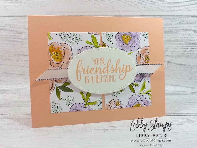 "libbystamps, Stampin' Up!, So Sentimental, Stitched Shaped Dies, Best Dressed DSP, Silver 3/8"" Metallic Edge Ribbon, #keepstamping, #makeacardsendacard"