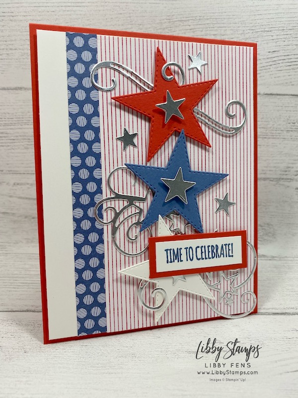 libbystamps, Stampin' Up!, Itty Bitty Birthdays, Stitched Stars Dies, Playful Pets DSP, 2020-2022 In Color 6 x 6 DSP, CCMC