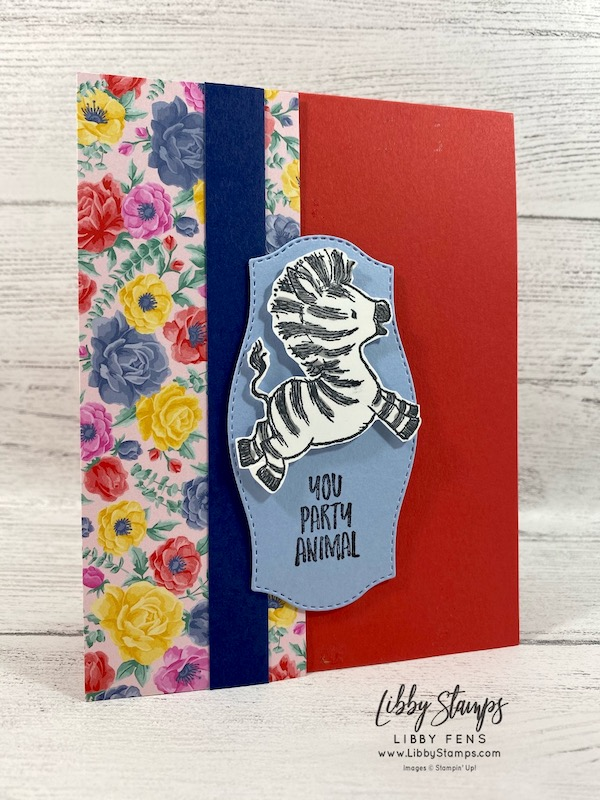 libbystamps, Stampin' Up!, Zany Zebra, Flowers For Every Season DSP, 2020-2021 Annual Stampin' Up Catalog, FMS438, #keepstamping
