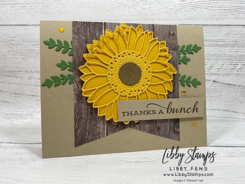 libbystamps, Stampin' Up!, Celebrate Sunflowers, Sunflower Dies, Celebrate Sunflowers Bundle, In Good Taste DSP, 2020-2022 In Color Enamel Dots, CCMC