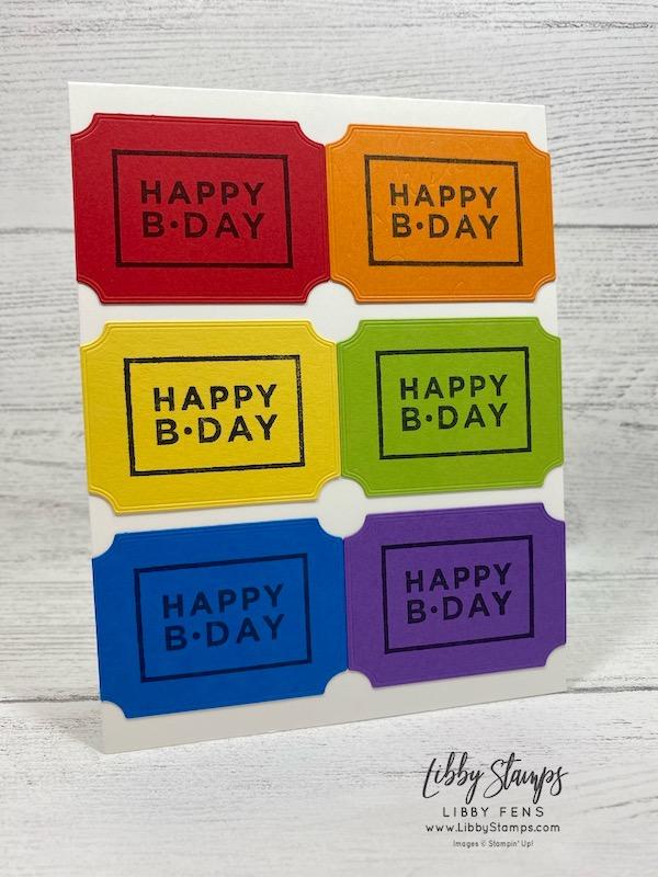 libbystamps, Stampin' Up!, Happiest of Birthdays, Tasteful Labels Dies, We Create, #simplestamping