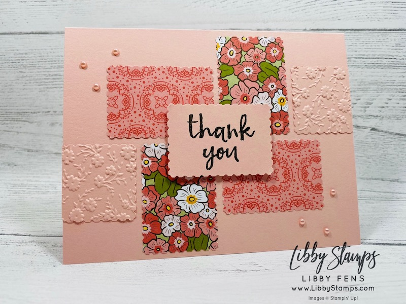 libbystamps, Stampin' Up!, Massive Thanks, Ornate Floral 3D EF, Ornate Garden Specialty DSP, Rectangular Postage Stamp Punch, Ink Stamp Share Blog Hop