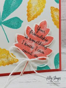 libbystamps, Stampin' Up!, Love of Leaves, Stitches Leaves Dies, Love of Leaves Bundle, Ink Stamp Share Blog Hop
