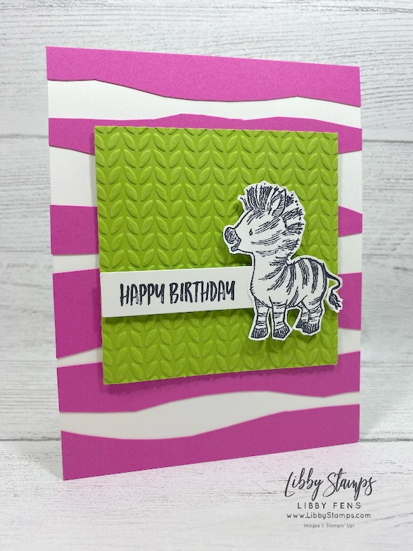 libbystamps, Stampin' Up!, Zany Zebra, Greenery EF, Creative Stampers Tutorial Bundle Group