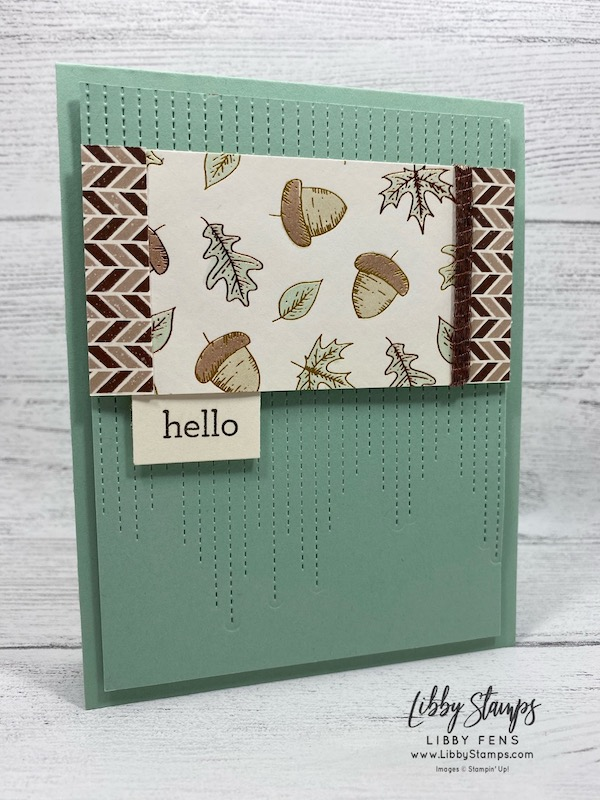 libbystamps, Stampin' Up!, Love of Leaves, Stitched Leaves Dies, Love of Leaves Bundle, Gilded Autumn Specialty DSP, TSOT