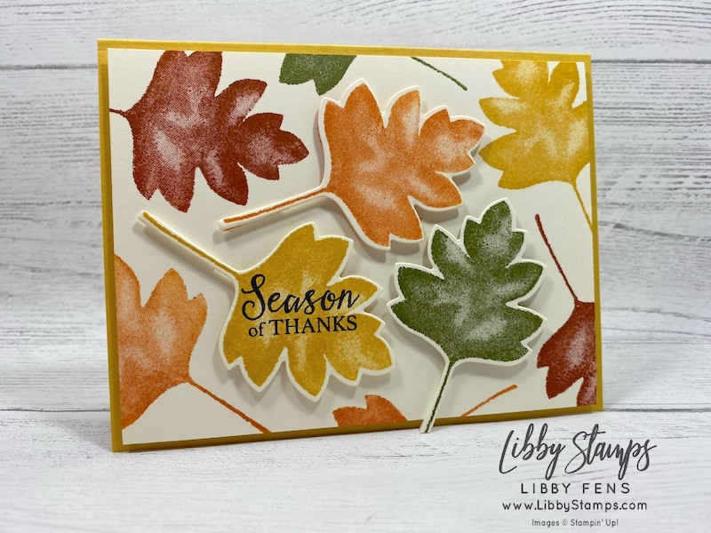 libbystamps, Stampin' Up!, Gather Together, Love of Leaves Bundle, Love of Leaves, Stitched Leaves Dies, CCMC, Create with Connie and Mary