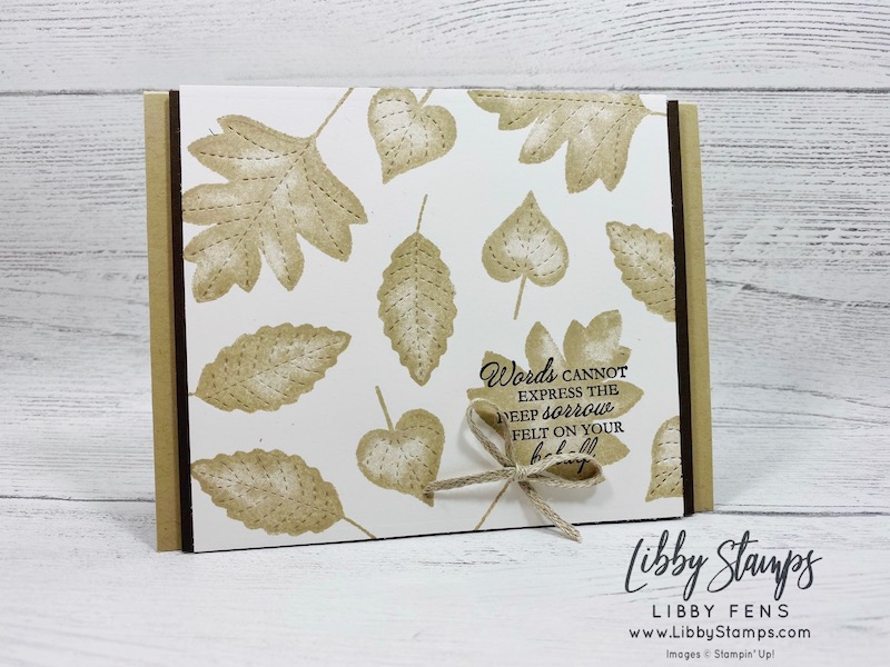 "libbystamps, Stampin' Up!, Love of Leaves, Love of Leaves Bundle, Stitched Leaves Dies, 3/16"" Braided Linen Trim"