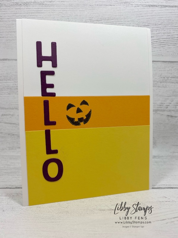 libbystamps, Stampin' Up!, Harvest Hellos, Playful Alphabet Dies, candy corn, #CTS 306, Case this Sketch