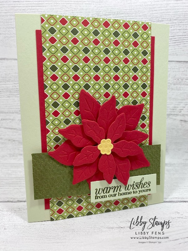 libbystamps, Stampin' Up!, Poinsettia Petals, Poinsettia Petals Bundle, Poinsettia Dies, Subtle EF, Ink Stamp Share Blog Hop