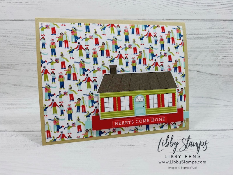 libbystamps, Stampin' Up!, Home Together Dies, Trimming The Town DSP, Create with Connie and Mary, CCMC631