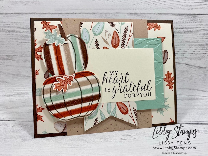 libbystamps, Stampin' Up!, Harvest Hellos, Beautiful Autumn, Beautiful Autumn Bundle, Greenery EF, Gilded Autumn Specialty DSP, Apple Builder Punch, Tailored Tag Punch, Autumn Punch Pack, Ink Stamp Share Blog Hop