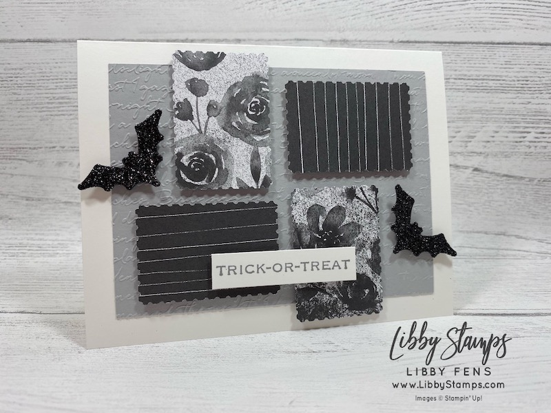 libbystamps, Stampin' Up!, Hallows Night Magic, Hallows Night Magic Bundle, Scripty 3D EF, Halloween Magic Dies, Magic in This Night DSP, Rectangular Postage Stamp Punch, #JOSTTT022, Joy of Sets