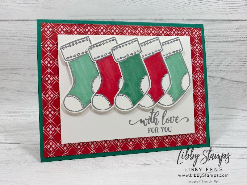 libbystamps, Stampin' Up!, Tag Buffet, 'Tis The Season 6 x 6DSP, Blends, Freshly Made Sketches, #FMS458