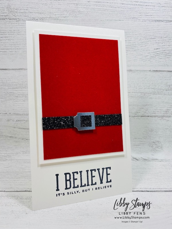 libbystamps, Stampin' Up!, Christmas Means More, Red Velvet Card Stock, Black Glitter Paper, Gift Bow Builder Punch, Stamparatus, CCMC, Create with Connie and Mary, Santa