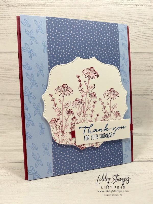libbystamps, Stampin' Up!, Dragonfly Garden, Dragonfly Garden Bundle, Hippo & Friends Dies, Flowers For Every Season DSP, Dragonflies Punch, CCMC, Create with Connie and Mary