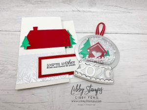 libbystamps, Stampin' Up!. Poinsettia Petals, Home Together Dies, Rectangle Stitched Dies, Red Velvet, Red & Green Foil Sheets, Feels Like Frost DSP, ornament