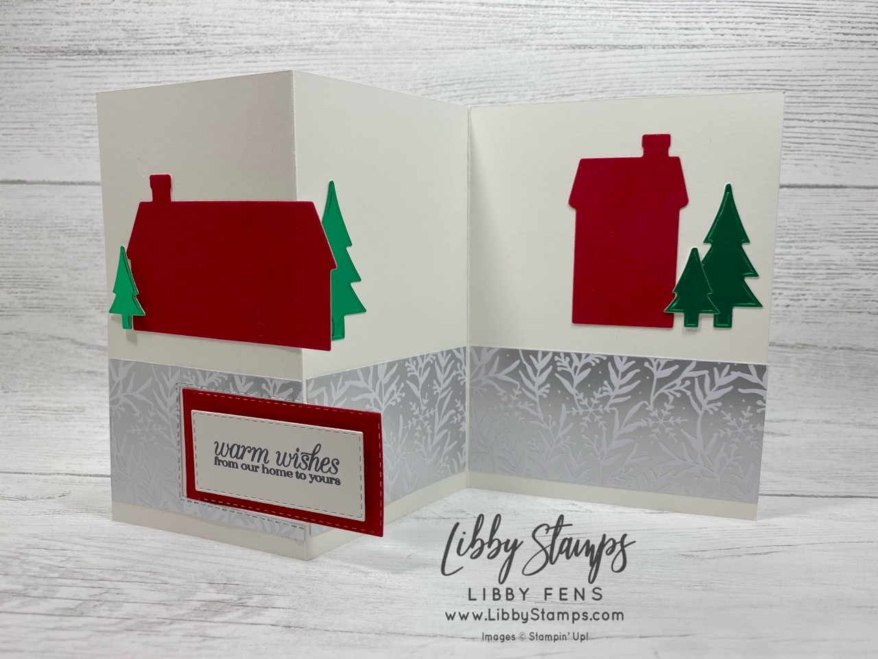 libbystamps, Stampin' Up!. Poinsettia Petals, Home Together Dies, Rectangle Stitched Dies, Red Velvet, Red & Green Foil Sheets, Feels Like Frost DSP, CCMC, Create with Connie and Mary