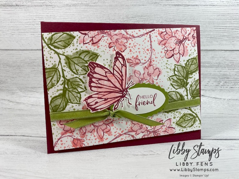 libbystamps, Stampin' Up!, A Touch of Ink, Double Oval, Ornate Garden Ribbon Pack, SAB, , Sale-A-Bration, Saleabration, Saleabration 2021, CCMC, Create with Connie and Mary