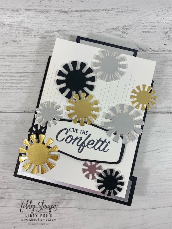 libbystamps, Stampin' Up!, Pattern Play, Dandy Wishes Dies, Tasteful Labels Dies, Stitched Leaves Dies, Center Step Card, Ink Stamp Share Blog Hop, New Years Card