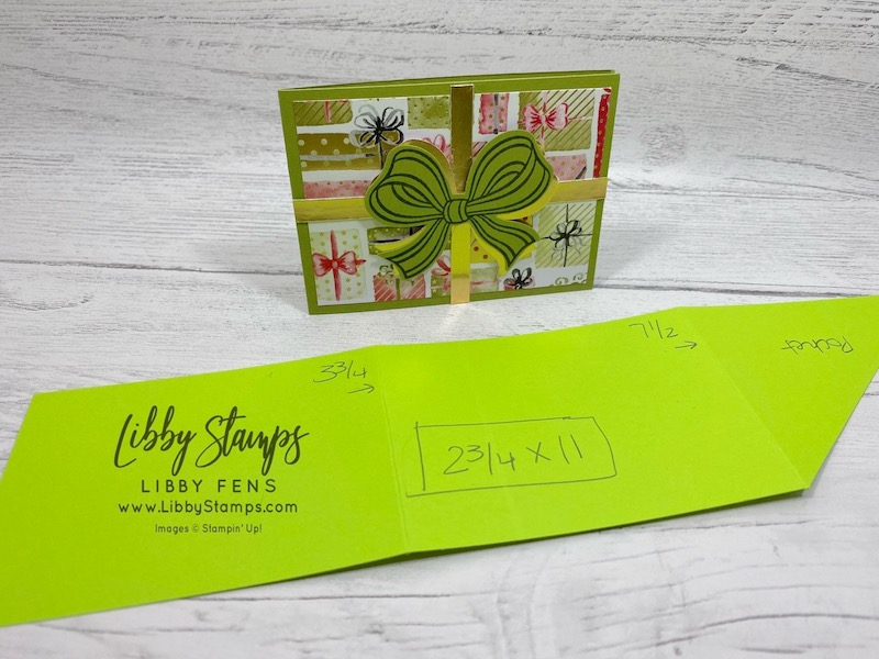 libbystamps, Stampin' Up!, Gift Wrapped, Gift Wrapped Bundle, Most Wonderful Time Product Medley, Gift Bow Builder Punch, Simply Scored, Tear & Tape, Kre8tors Blog Hop