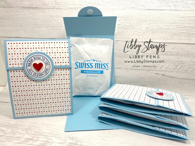 libbystamps, Stampin' Up!, Warm Hugs, Heartwarming Hugs, hot chocolate holder