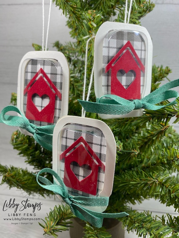 libbystamps, Stampin' Up!, Home Together Dies, Plaid Tidings 6 x 6DSP, Jar Punch, Mason Jar Shaker Domes, BFBH, Blogging Friends Blog Hop