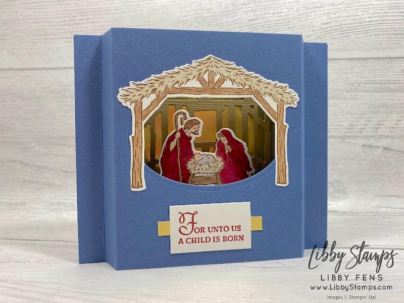 libbystamps, Stampin' Up!, Peaceful Nativity, Nativity Dies, Peaceful Nativity Bundle, Blends