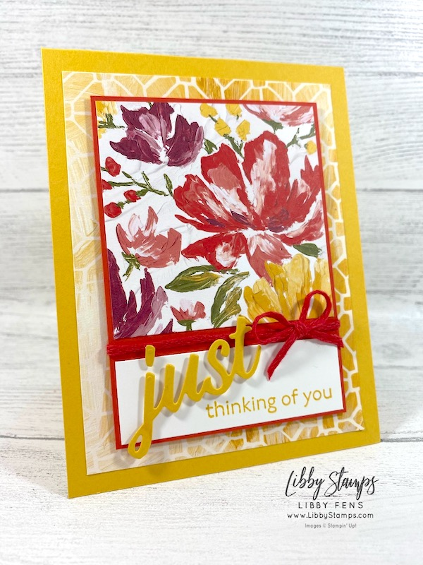 libbystamps, Stampin' Up!, Art Gallery, Art GalleryBundle, Floral Gallery Dies, Fine Art Floral DSP, TSOT, Try Stampin' on Tuesday