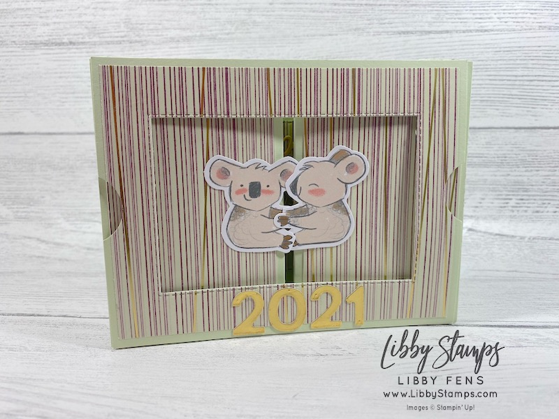 libbystamps, Stampin' Up!, Stitched Rectangle Dies, Beary Comforting Paper Pumpkin December 2020 Word Wishes Dies, Playful Alphabet Dies, Beary Comforting, We Create, We Create Blog Hop, Fun Fold, New Years, Paper Pumpkin, Theater Card