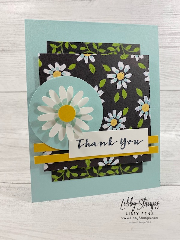 "libbystamps, Stampin' Up!, Sweet Strawberry, Flower & Field DSP, 2"" Circle Punch, Medium Daisy Punch, Saleabration 2021, SAB, Saleabration, CCMC, Create with Connie and Mary"