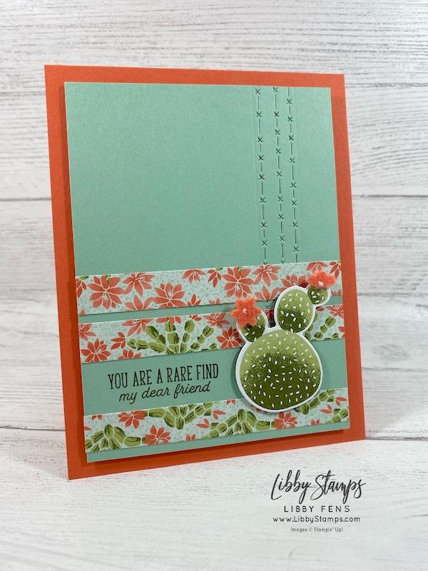 libbystamps, Stampin' Up!, Flowering Cactus, Flowering Cactus Dies, Flowering Cactus Product Medley, Flowering Cactus DSP, #FMS469, JJ Mini