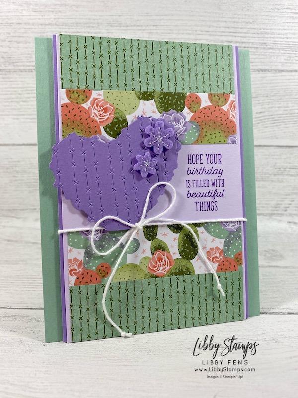 libbystamps, Stampin' Up!, JJ Mini, Flowering Cactus, Flowering Cactus Dies, Flowering Cactus DSP, Flowering Cactus Product Medley, Ink Stamp Share Blog Hop