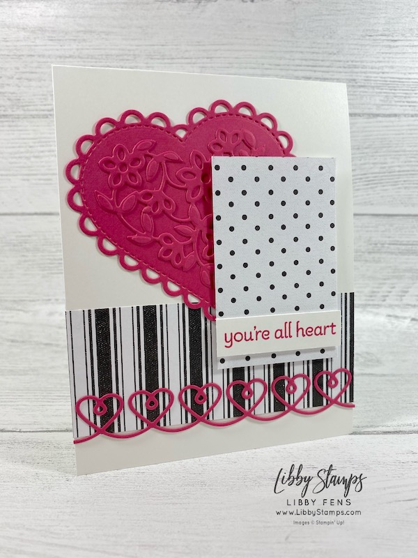 libbystamps, Stampin' Up!, Lots of Hearts, Lots of Hearts Bundle, Many Hearts Dies, True Love DSP, Mini JJ, Try Stampin' on Tuesday, #TSOT489