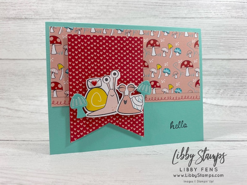 libbystamps, Stampin' Up!, Mini JJ, Snailed It, Snailed It Bundle, Snail Dies, Snail Mail DSP, Resin Hearts, Atlantic Hearts Sketch Challenge, #AHSC402