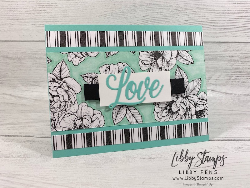 libbystamps, Stampin' Up!, Always Dies, True Love DSP, Atlantic Hearts Sketch Challenge, AHSC