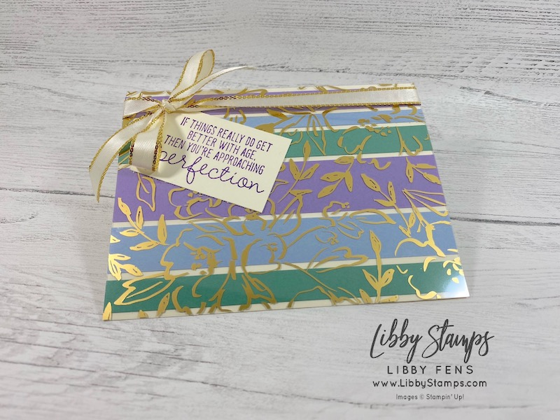 "Approaching Perfection, Golden Garden Designer Specialty Acetate, Gold 3/8"" Metallic Edge Ribbon, SAB, Sale-A-Bration, Saleabration, Saleabration 2021, Sale-a-bration 2021, CCMC, Create with Connie and Mary"