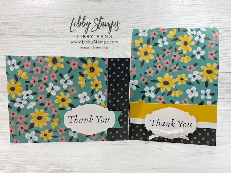 libbystamps, Stampin' Up!, Happy Thoughts, Field & Flower DSP, Story Label Punch, SAB, Sale-A-Bration, Sale-a-bration 2021, Saleabration 2021, Saleabration