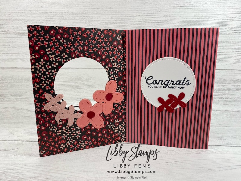 libbystamps, Stampin' Up!, Stitched Shapes Dies, In Bloom, In Bloom Bundle, Flower & Field DSP, Pierced Blooms Dies, Fun Fold Fridays, fun folds, Sale-A-Bration, Sale-a-bration 2021, SAB, Saleabration, Saleabration 2021