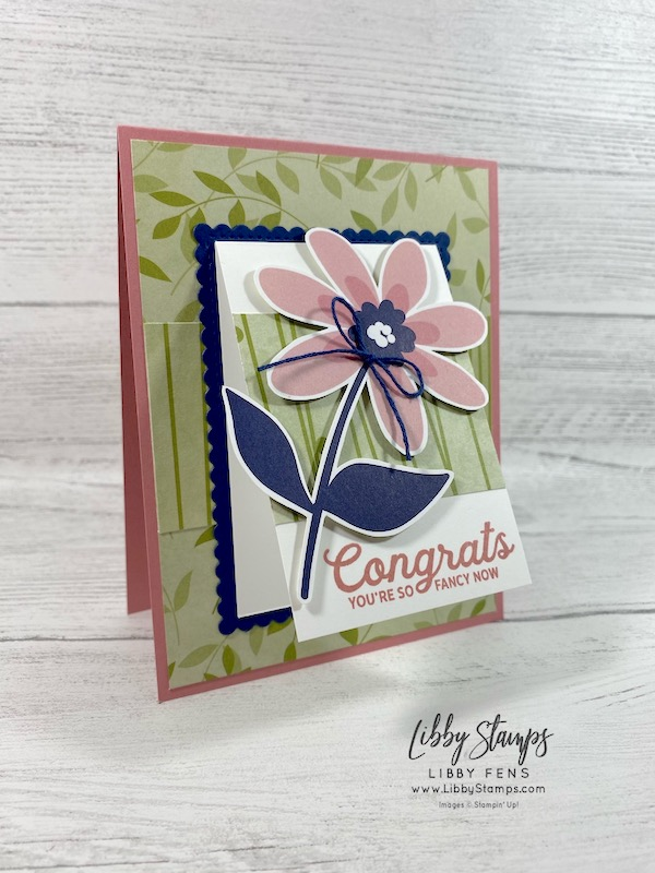 libbystamps, Stampin' Up!, In Bloom, Stitched So Sweetly Dies, Paper Blooms DSP, Well Suited Twine Combo Pack, Freshly Made Sketches, #FMS473, SAB, Sale-A-Bration, Sale-a-bration 2021, Saleabration, Saleabration 2021