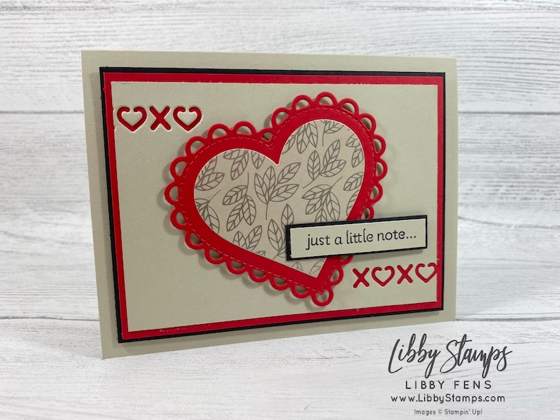 libbystamps, Stampin' Up!, Lots of Hearts, Lots of Hearts Bundle, Many Hearts Dies, Love You Always DSP, masculine card, Valentine's Card, BFBH, Blogging Friends Blog Hop