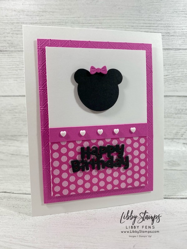 """libbystamps, Stampin' Up!, Birthday Chick Dies, 2020 - 2022 In Color 6"""" x 6"""" DSP, Ice Cream Cone Builder Punch, Resin Hearts, CCMC, Create with Connie and Mary"""