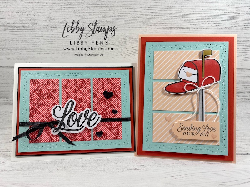 libbystamps, Stampin' Up!, Paper Pumpkin, Sending Hearts January 2021 Paper Pumpkin Kit, Stitched With Whimsy Dies, We Create, blog Hop, Love